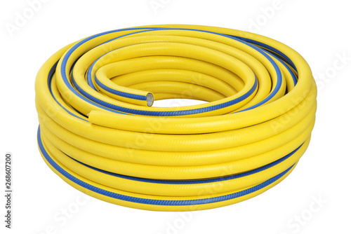 Coiled rubber garden hose isolated Canvas-taulu
