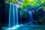 Nabegatai, wodospad w lesie, Kumamoto w Japonii