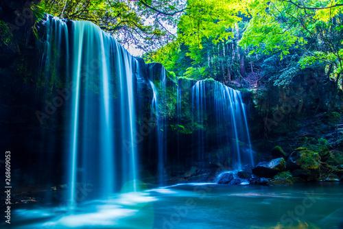 Nabegatai, waterfall in forest, Kumamoto Japan