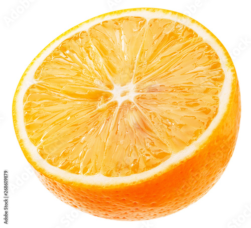 half of orange isolated on a white background