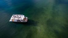 Party Pontoon Boat On Lake - H...