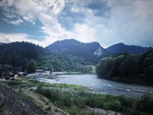 Poprad River, Muszyna Poland River In Mountain
