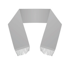 Grey Scarf Template. Vector Illustration