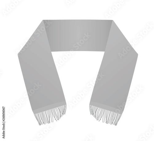 Cuadros en Lienzo Grey scarf template. vector illustration