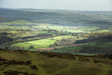 Lovely Spring landscape image of view from Haytor in Dartmoor National Park in Devon England on lovely sunny Spring day - 268616283