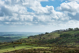 Lovely Spring landscape image of view from Haytor in Dartmoor National Park in Devon England on lovely sunny Spring day - 268616474