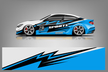 Sport Car Wrap Design Vector, ...