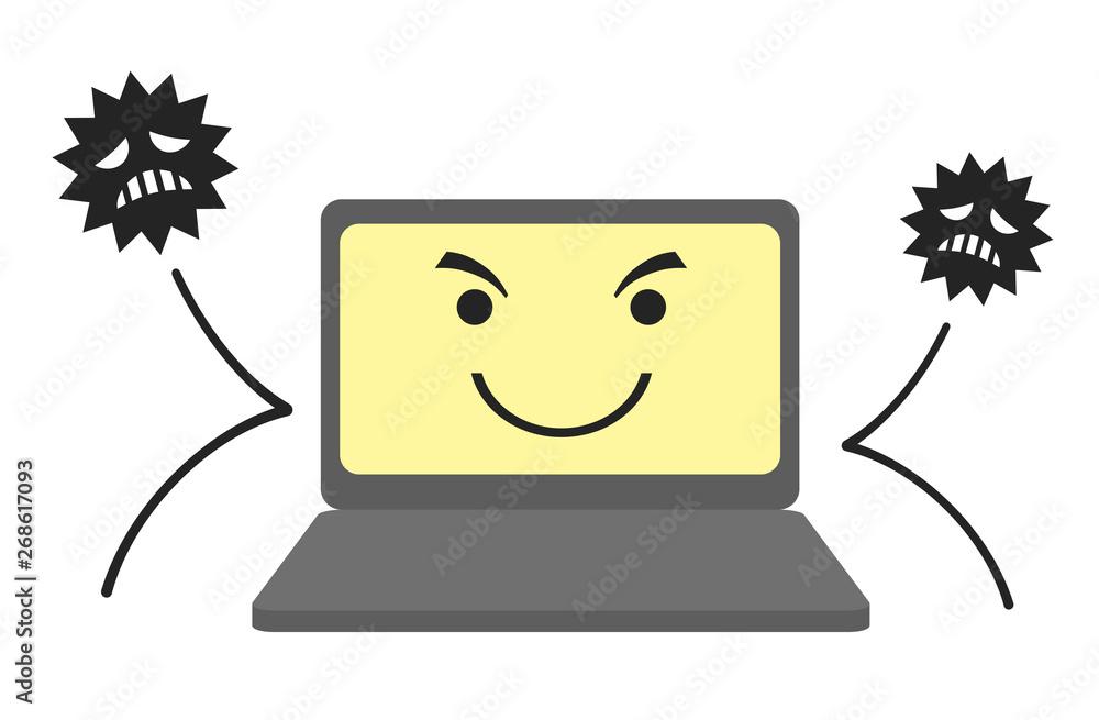 Fototapeta セキュリティ強化されたパソコン