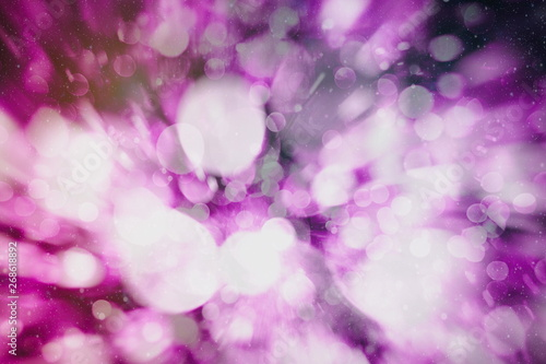 Poster Blanc Vintage Magic background with colorful bokeh. Spring Summer Christmas New Year disco party background.