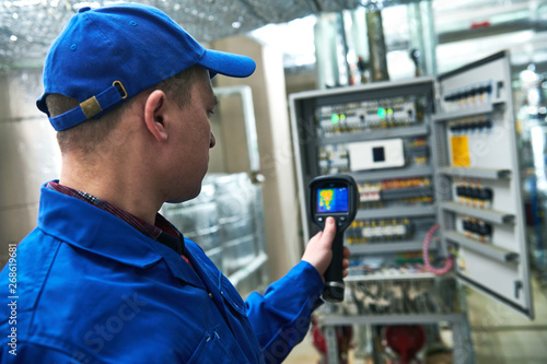 thermal imaging inspection of electrical equipment Canvas Print