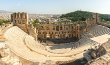 Panorama Of Theatre Of Herodes...
