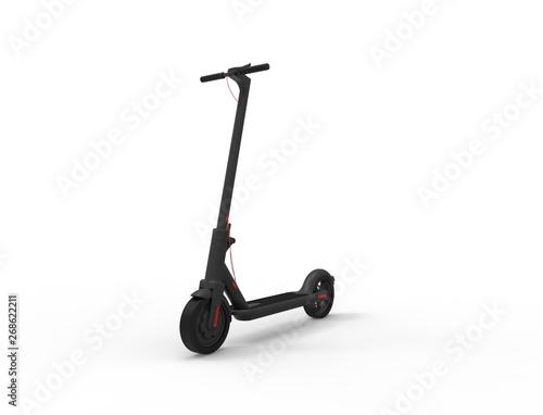 3D rendering of a electric mobility scooter isolated in white background Wall mural