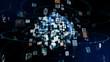 Leinwanddruck Bild - グローバルネットワーク