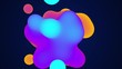 Abstract background with morphing circles in flat style on colorful backdrop. Animation of seamless loop.