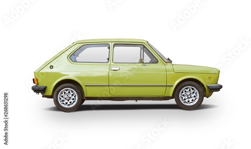 Canvastavla  Classic Italian car side view isolated on whit