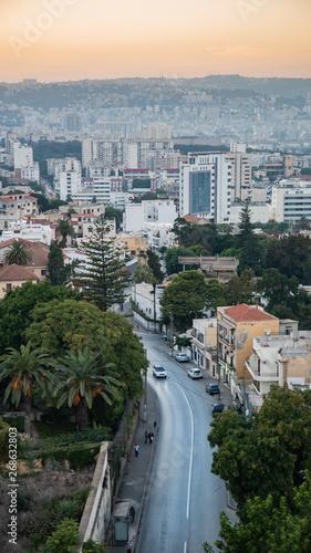 Vászonkép View of new city of Algiers in Algeria
