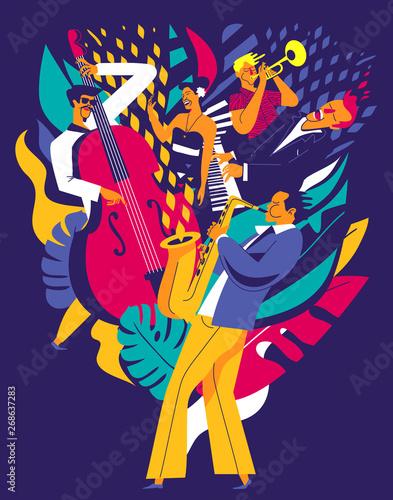 Obraz na płótnie Summer music festival poster