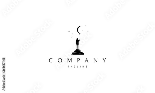 Dreamer abstract black vector logo design image