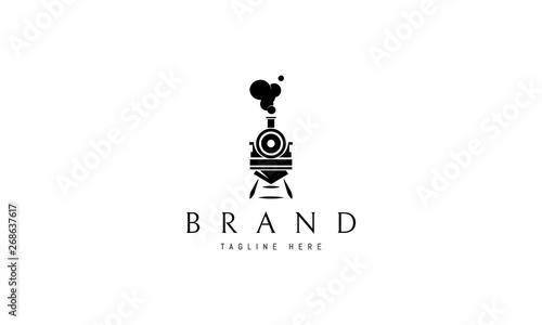 Fotografia Train abstract black vector logo design image