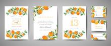 Set Of Botanical Wedding Invit...