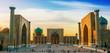 Leinwanddruck Bild - Registan, an old public square in Samarkand, Uzbekistan