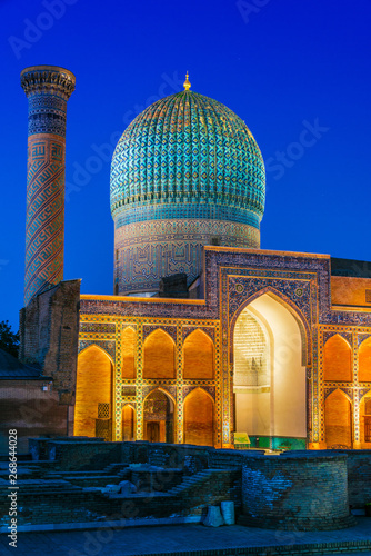 Obraz na płótnie Guri Amir, a mausoleum of the Asian conqueror Timur in Samarkand