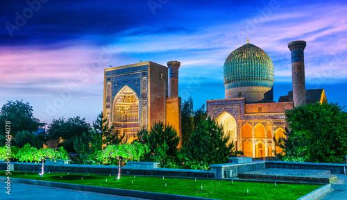 Foto  Guri Amir, a mausoleum of the Asian conqueror Timur in Samarkand