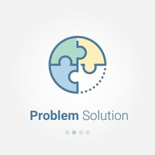 Problem Solution Vector Icon