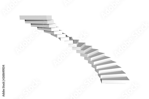 Spirale Circural or Spiral Stairway Staircase on White