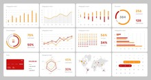 Elements Of Infographics On A ...