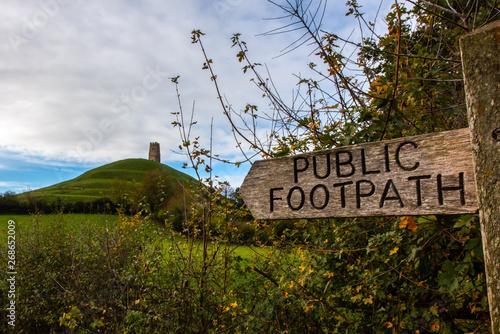 Vászonkép Glastonbury Tor Footpath