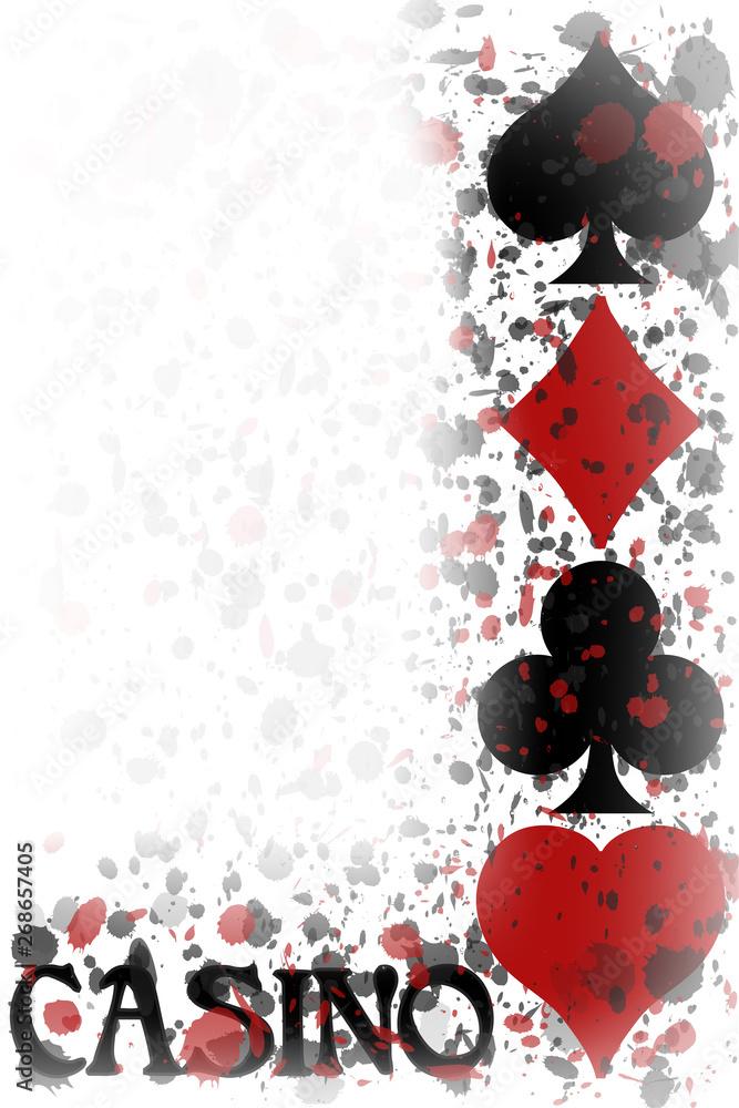Obrazy Na Płótnie Casino Poker Invitation Card Background