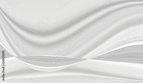 In de dag Fractal waves The texture of white marble for a pattern of packaging in a modern style. Beautiful drawing with the divorces and wavy lines in gray tones for wallpapers and screensaver.