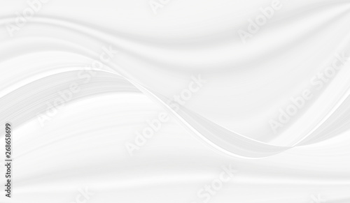 Deurstickers Fractal waves The texture of white marble for a pattern of packaging in a modern style. Beautiful drawing with the divorces and wavy lines in gray tones for wallpapers and screensaver.