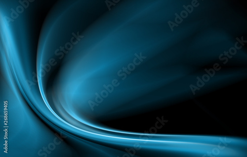Abstract blue background, abstract lines twisting into beautiful bends #268659405