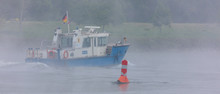Patrol Boat Of The Water Police On The Rhine