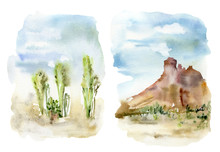Watercolor Mexican Landscapes ...