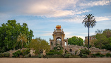 A View Of Fountain Of Park Ciutadella In Barcelona, Spain. Amazing Architecture.
