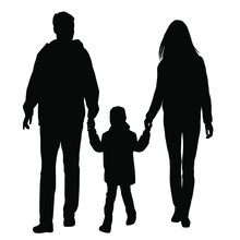 Vector Silhouettes Of A Family...