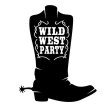 Wild West Party. Cowboy Boot W...