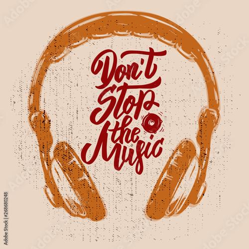 Fotografie, Obraz  Don't stop the music