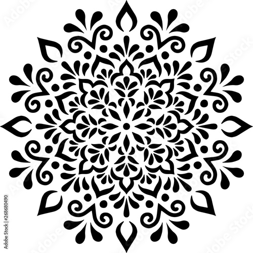 Mandala Pattern Stencil doodles sketch Canvas Print