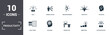 Leinwanddruck Bild - Productivity icons set collection. Includes simple elements such as Work Plan, Tasks To Do, Daily Tasks, Focusing, Workplace, Knowledge Growing and premium icons