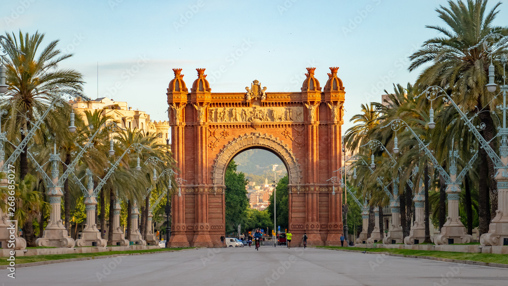 Fototapety, obrazy: The Arc de Triomf is a triumphal arch in the city of Barcelona in Catalonia, Spain