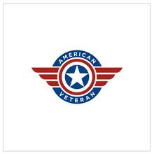 American Flag Patriotic Emblem...
