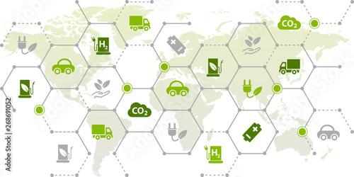 Foto Bio fuel / alternative fuel concept - vector illustration