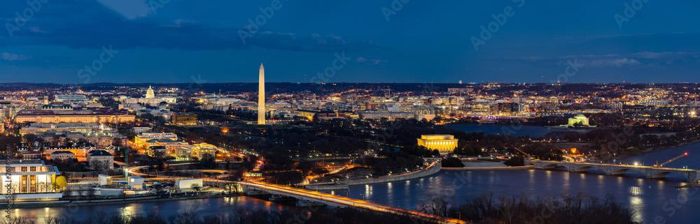 Fototapeta Washington DC Aerial panorama