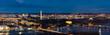 canvas print picture - Washington DC Aerial panorama