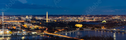 Foto Washington DC Aerial panorama