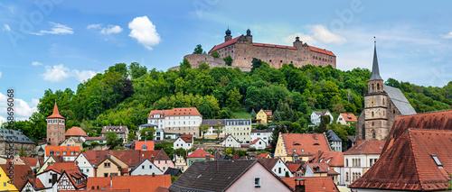 cityscape of Kulmbach with Plassenburg castle Wallpaper Mural